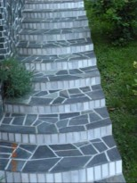 moderne stopnice iz kamna